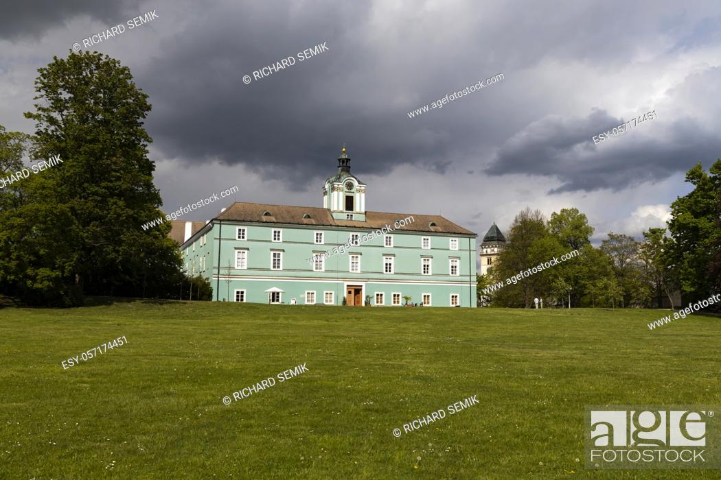 Stock Photo: Dacice castle in Southern Bohemia, Czech Republic.