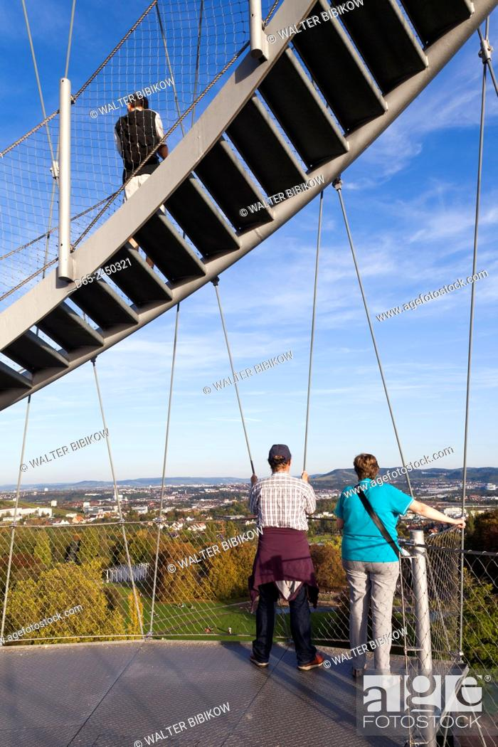Stock Photo: Germany, Baden-Wurttemburg, Stuttgart, Hohenpark Killesberg, tower.