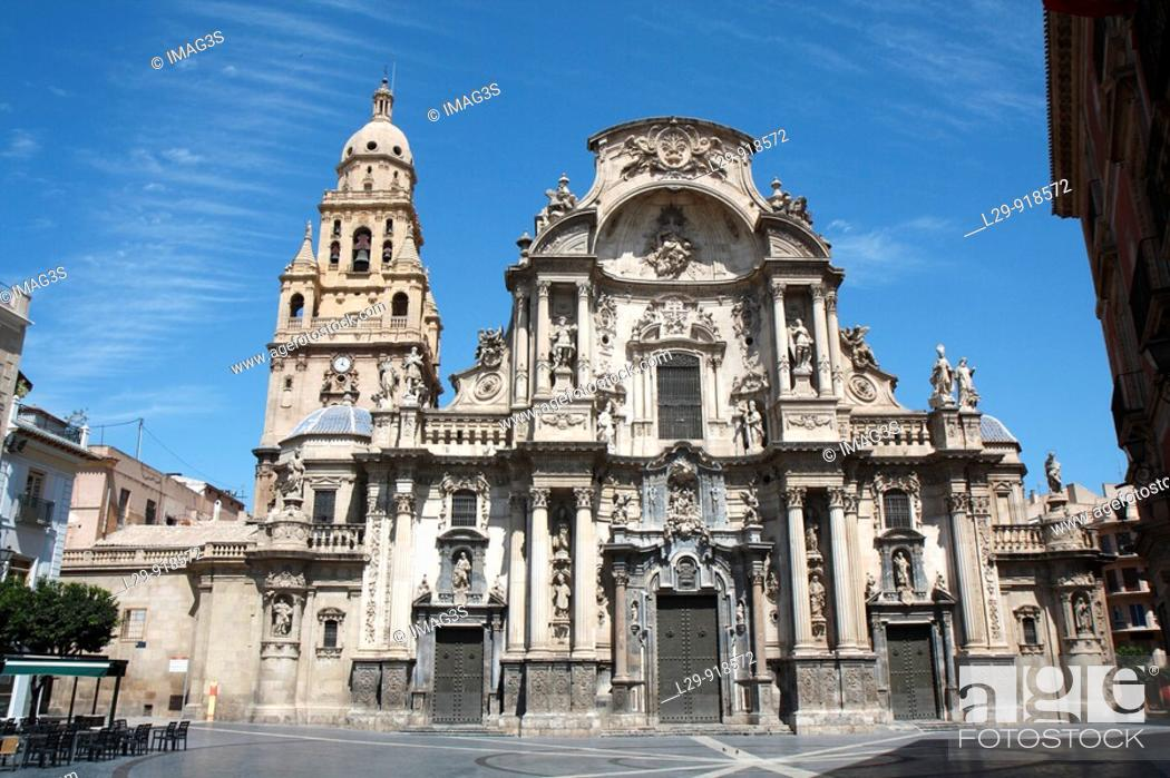 Stock Photo: Cathedral, Murcia, Spain.
