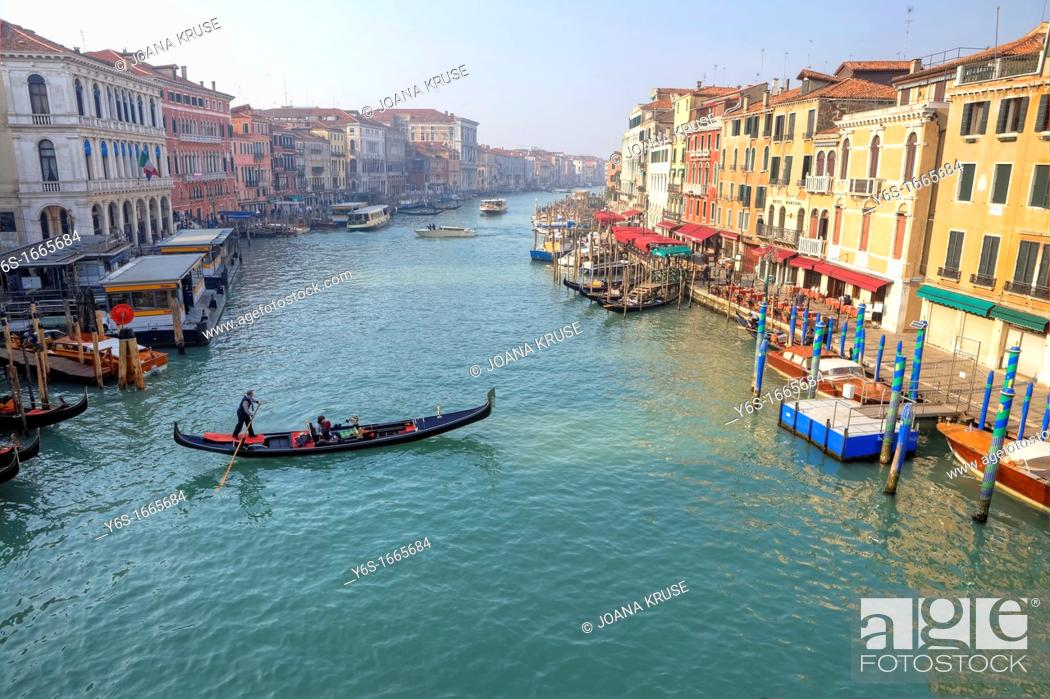 Stock Photo: Grand Canal, Venice, Veneto, Italy.