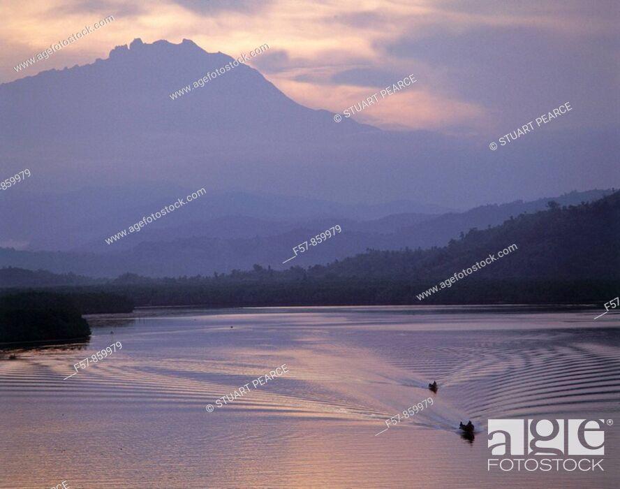 Stock Photo: Mount Kinabalu, Sabah, Malaysia.