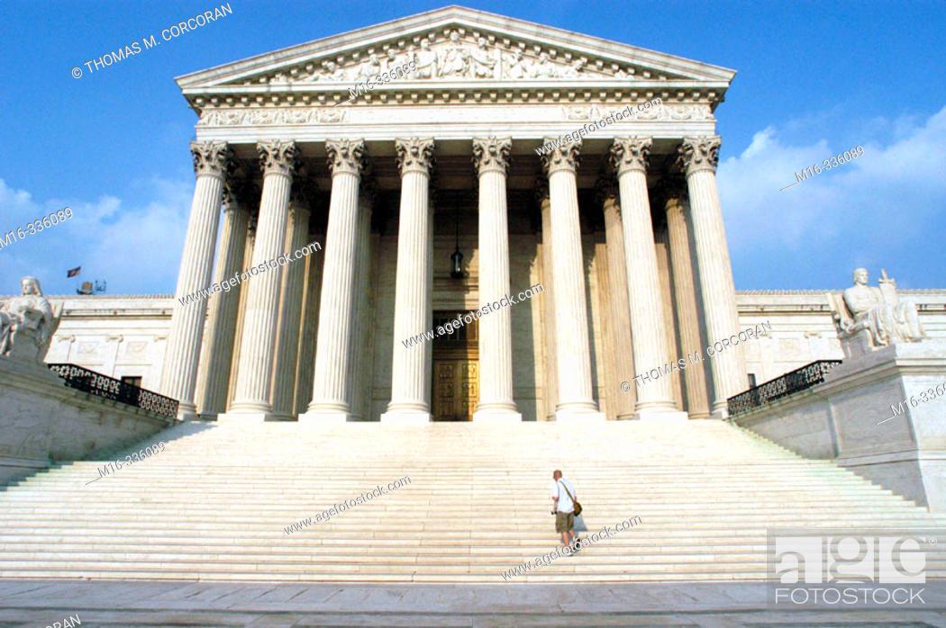 Stock Photo: Supreme Court Building. Washington D.C. USA.