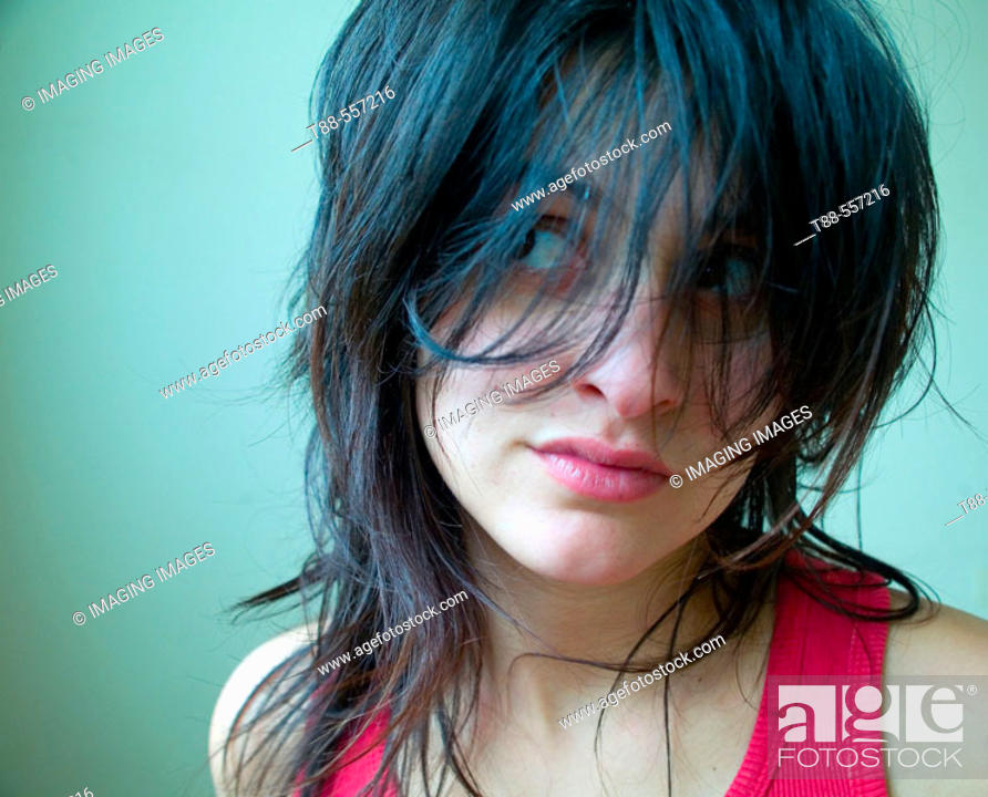 Stock Photo: Portrait of a young girl.