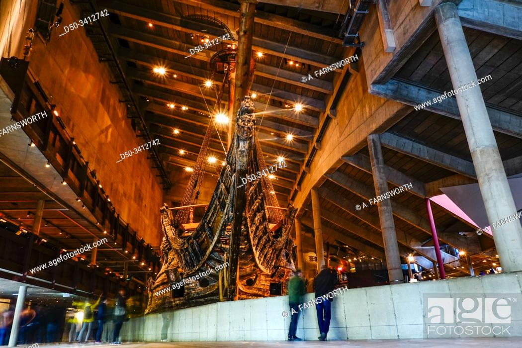 Stock Photo: Stockholm, Sweden The Wasa or Vasa ship in the Wasa Museum from 1628.