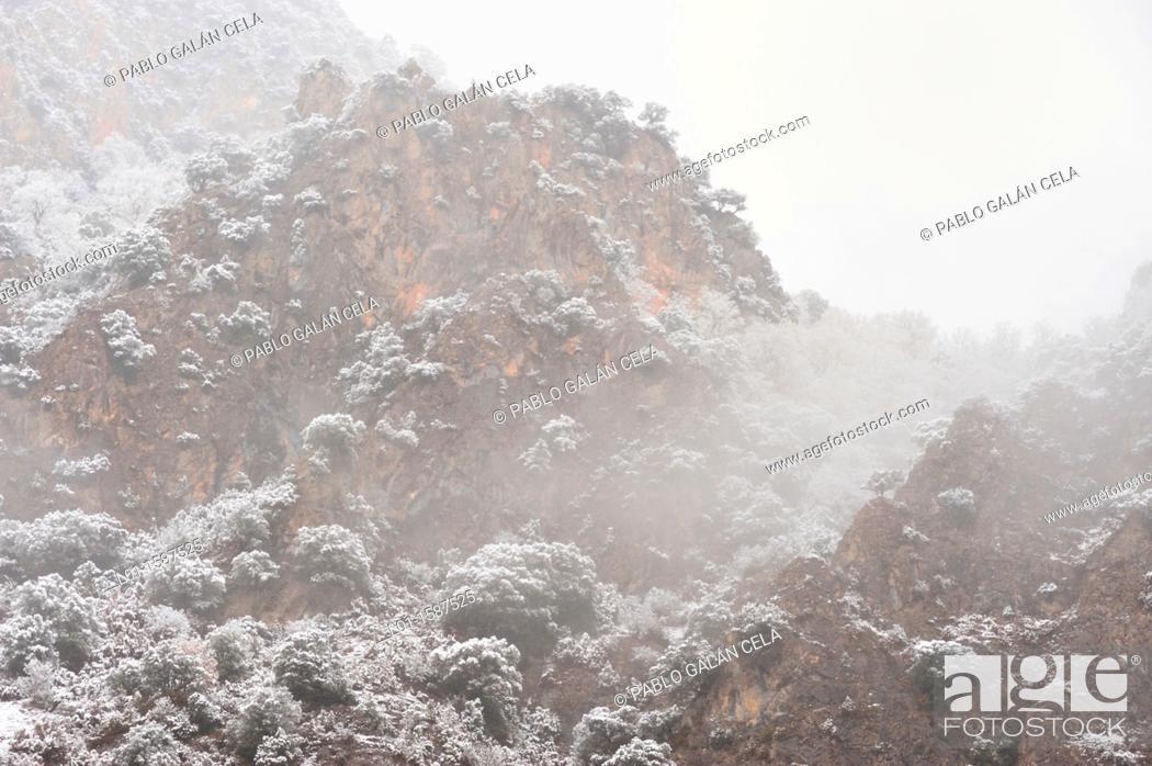 Stock Photo: Invierno en el valle de Benasque Huesca.
