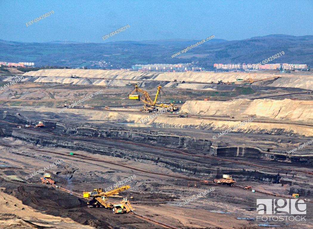 Stock Photo: Strip coal mine.