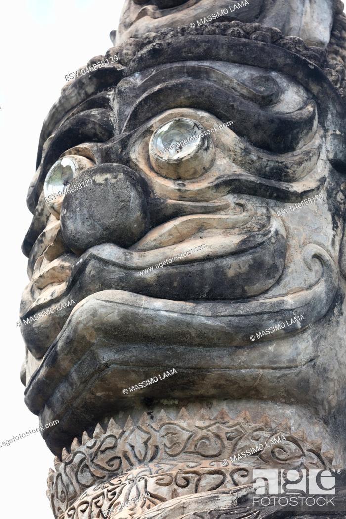 Stock Photo: November 23 2016 Vientiane, Laos Religious statues at Wat Xieng Khuan Buddha park.
