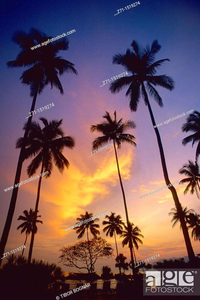 Stock Photo: Langkawi Island at sunset, Malaysia.