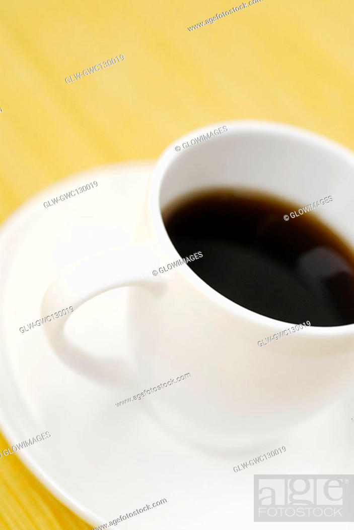 Stock Photo: Close-up of a cup of black tea.