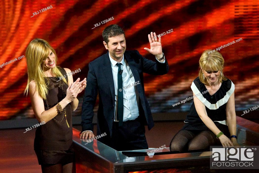 Imagen: 27 02 2011, Milan, 'Che tempo che fa' Telecast RAI3  Luciana Littizzetto, Filippa Lagerback and Fabio Fazio.