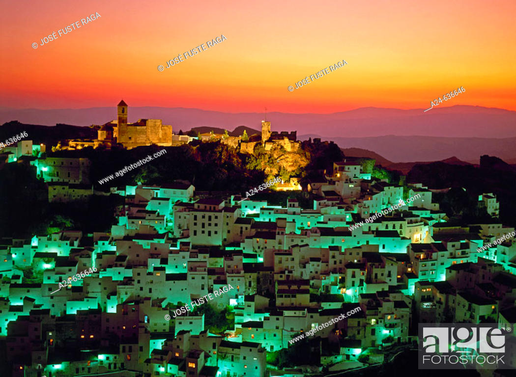 Stock Photo: Casares. Malaga province, Costa del Sol, Andalucia, Spain (April 2007).