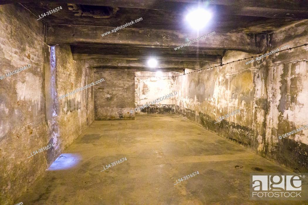 Stock Photo: Basement Auschwitz Birkenau Concentration Camp OŠ›wiÄ. cim Museum Southern Poland Europe EU UNESCO.