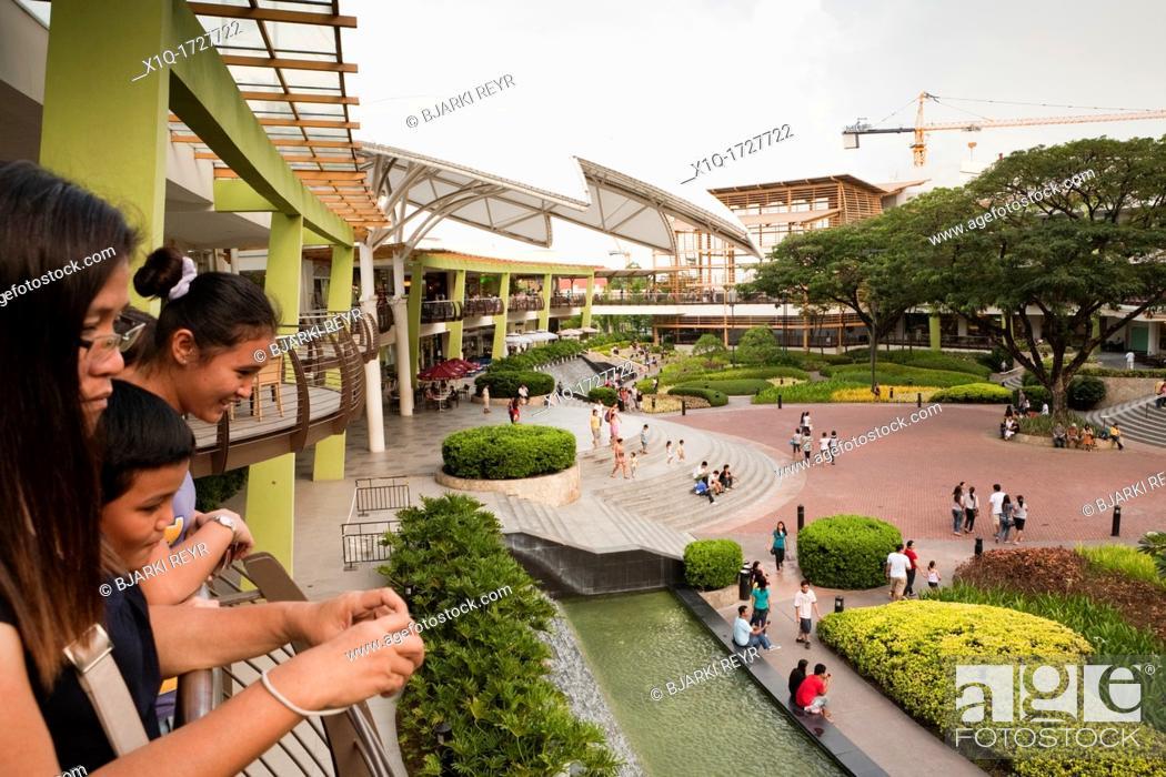 Stock Photo: The Terraces at Ayala Center Cebu shopping mall, part of Cebu Business Park  Cebu City, Cebu, Visayas, Philippines.