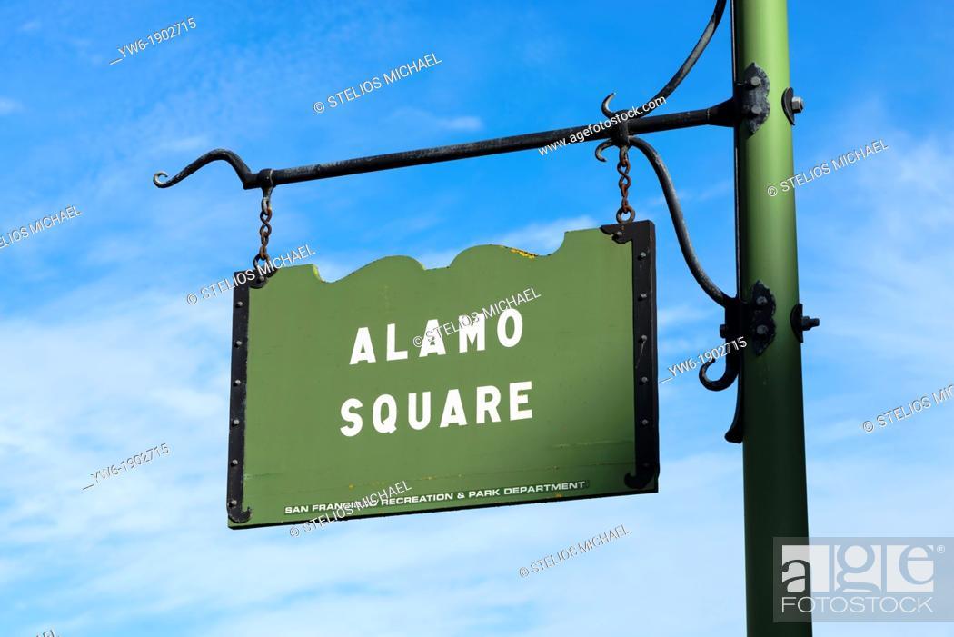 Stock Photo: Alamo Square, San Francisco, USA.
