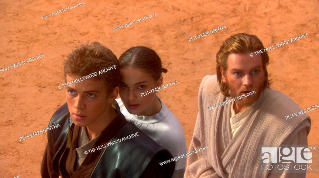 Stock Photo: Hayden Christensen, Natalie Portman, Ewan McGregor, 'Star Wars Episode II: Attack of the Clones' (2002).