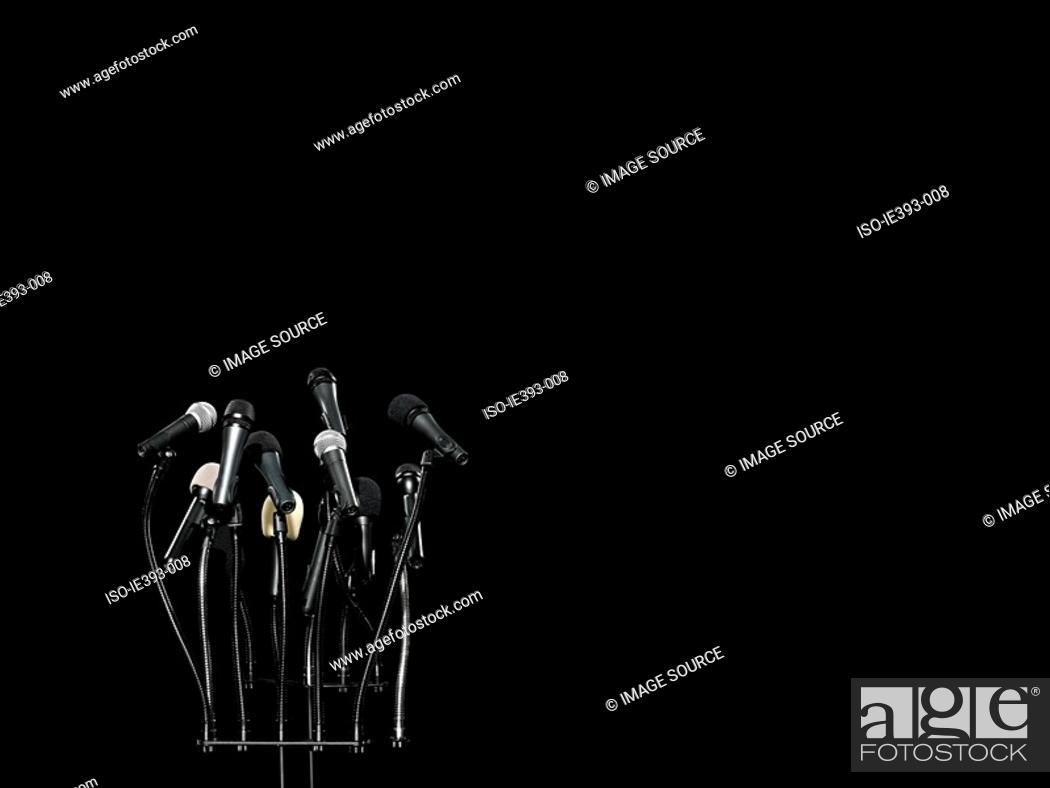 Stock Photo: Microphones.