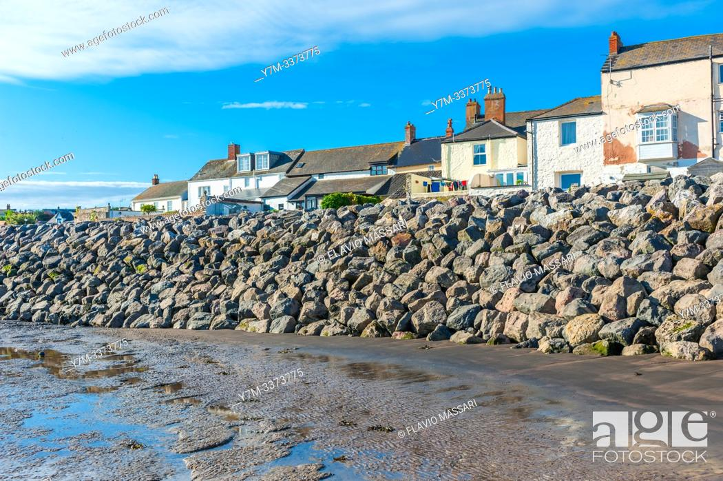Stock Photo: view on Watchet, Somerset, UK from port.