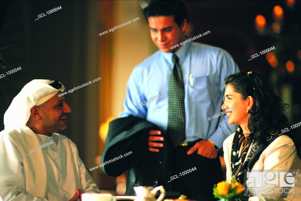 Stock Photo: Business meeting of Arab people.