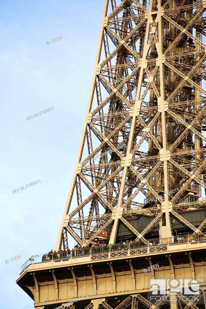 Stock Photo: Detail of Eiffel tower, Paris, France.