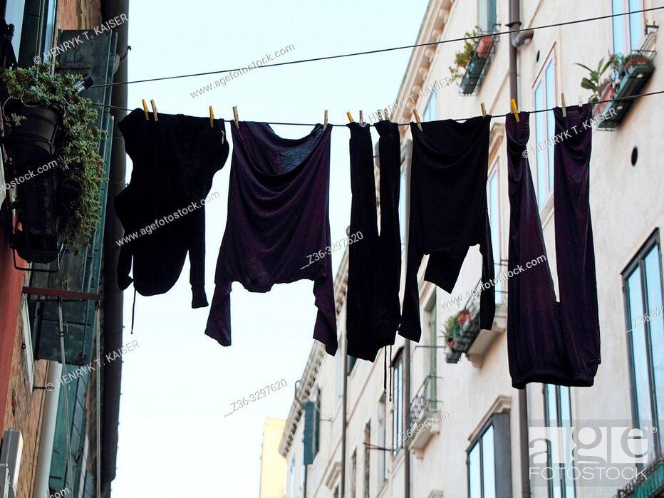Stock Photo: Laundry in Venice, Italy, Eu.