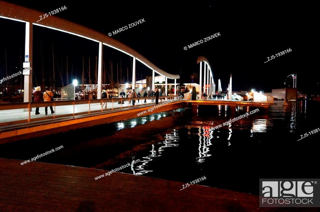 Stock Photo: Road promenade of the city of Barcelona Spain.