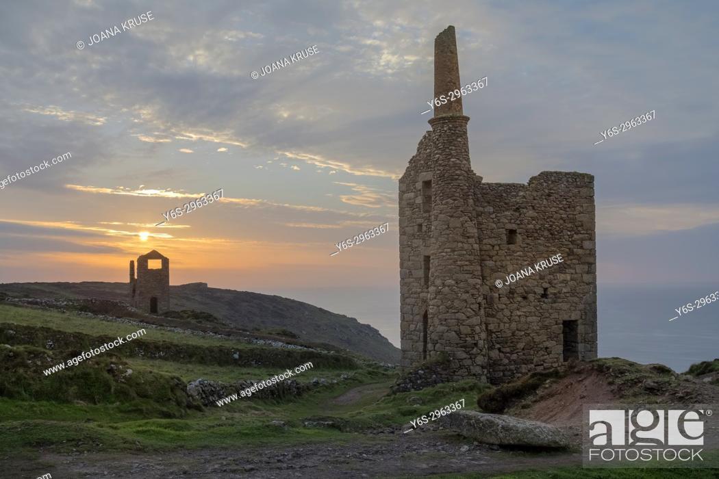 Stock Photo: Botallack Mine, Cornwall, England, United Kingdom.