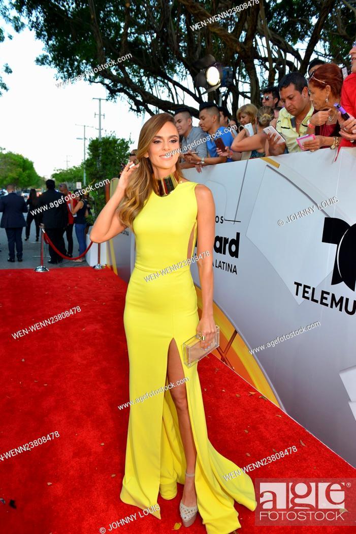 Stock Photo: Billboard Latin Music Awards 2016 at BankUnited Center - Arrivals Featuring: Karen Martinez Where: Coral Gables, Florida.
