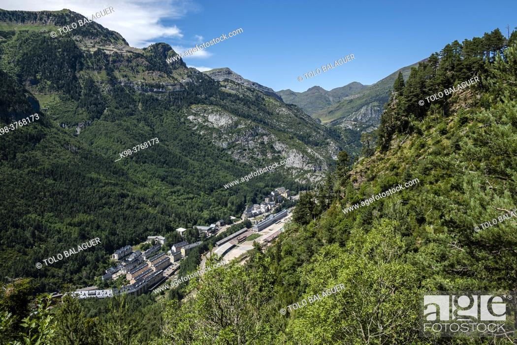 Stock Photo: Canfranc, Aragon Valley, Jacetania, Huesca, Spain.