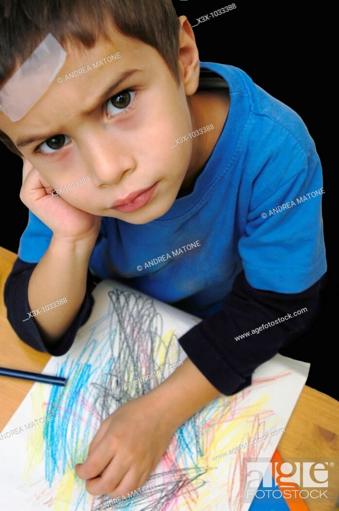 Stock Photo: A disappointed child.