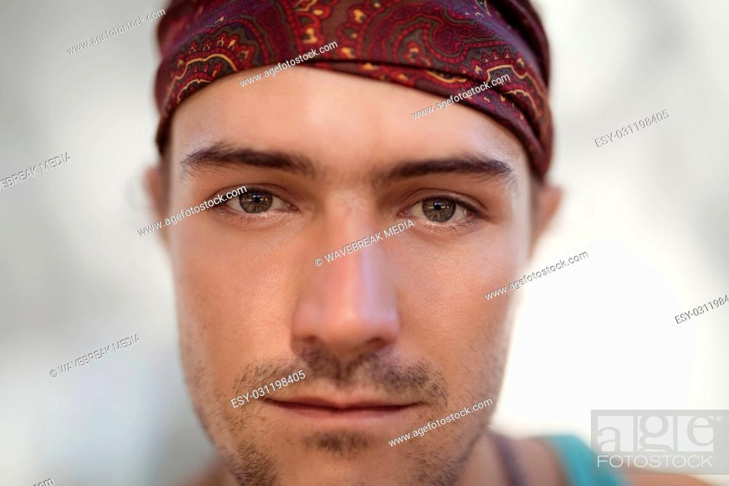 Stock Photo: Close-up portrait of man.