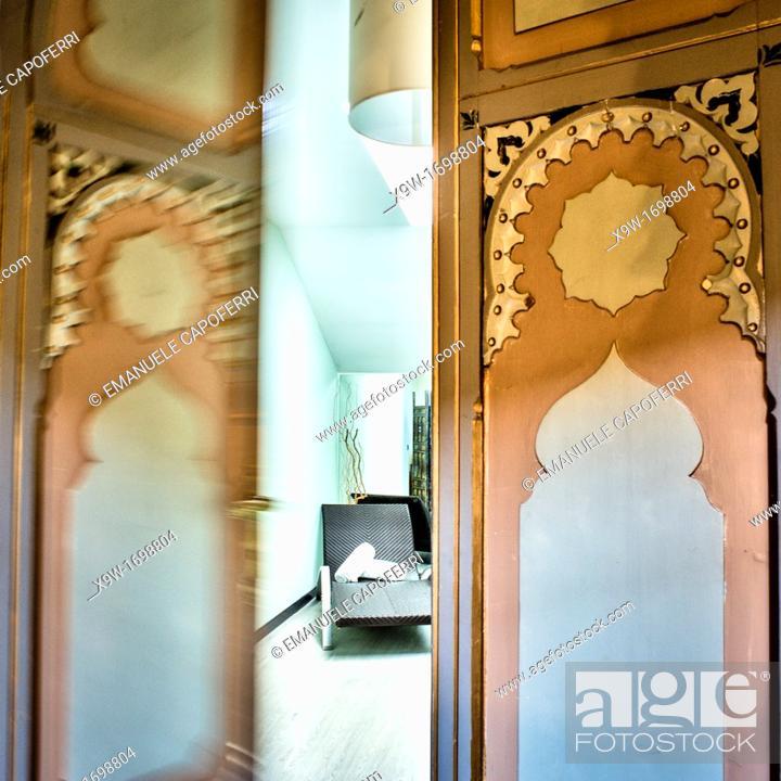 Stock Photo: Hotel villa crespi,orta san giulio,piedmont,italy.