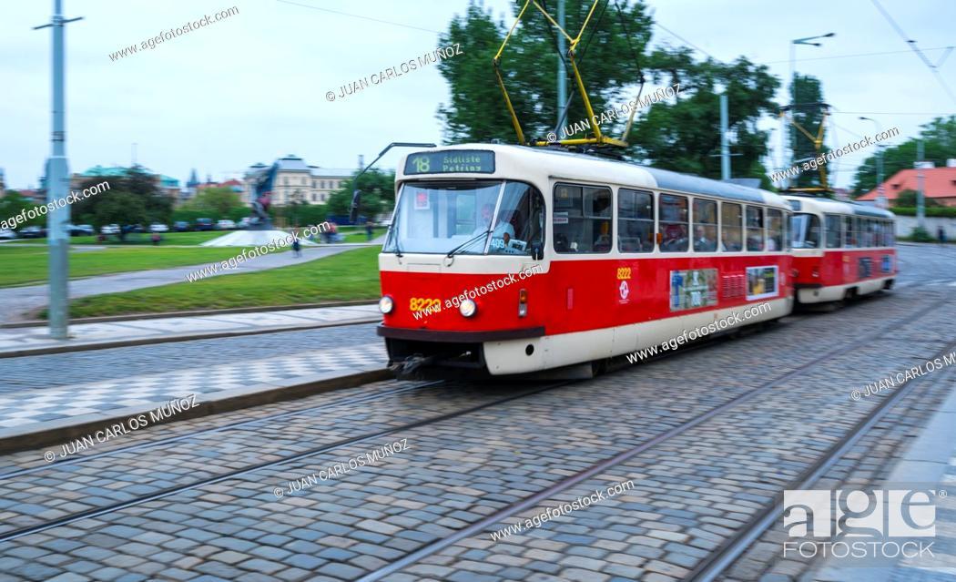 Imagen: Tram, Prague, Czech Republic, Europe.