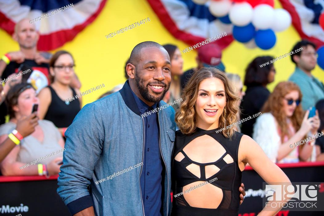 Stock Photo: Stephen Boss and Allison Holker attending the Los Angeles premiere of Sony's 'Sausage Party' at the Regency Village Theatre in Westwood.
