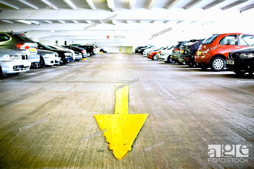 Stock Photo: Car parking facilities, Birmingham, West Midlands, England, UK.