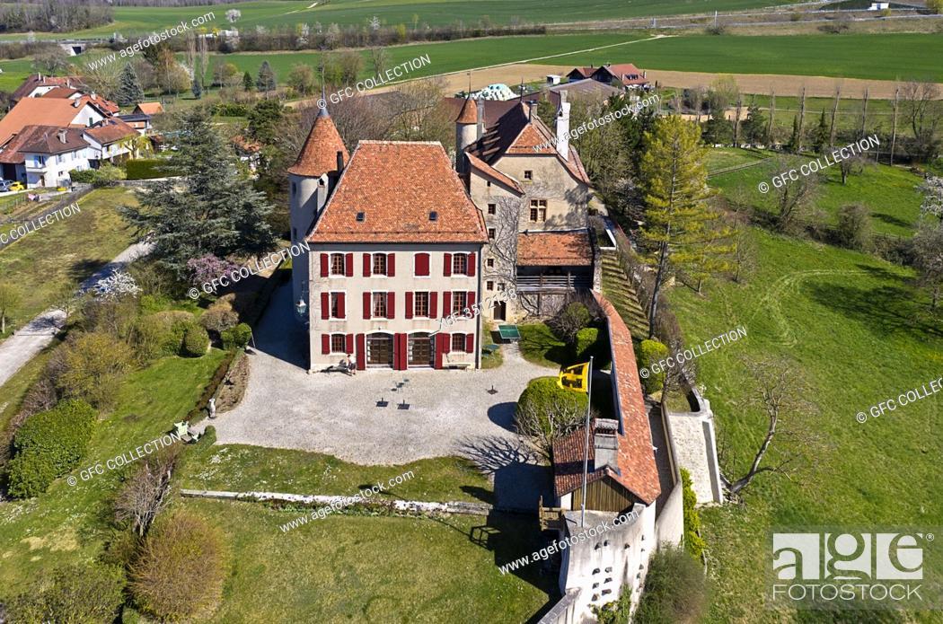 Photo de stock: Bavois Castle, Chateau de Bavois, Bavois, Vaud, Switzerland.