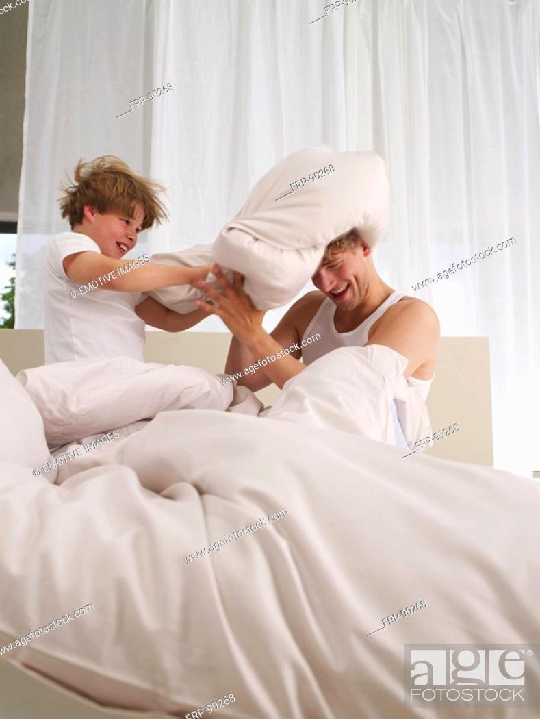 Stock Photo: Pillow fight.