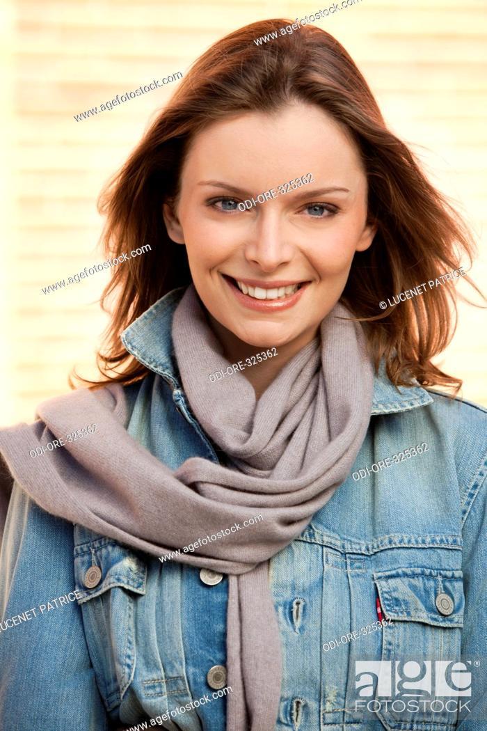 Stock Photo: Woman autumn portrait.