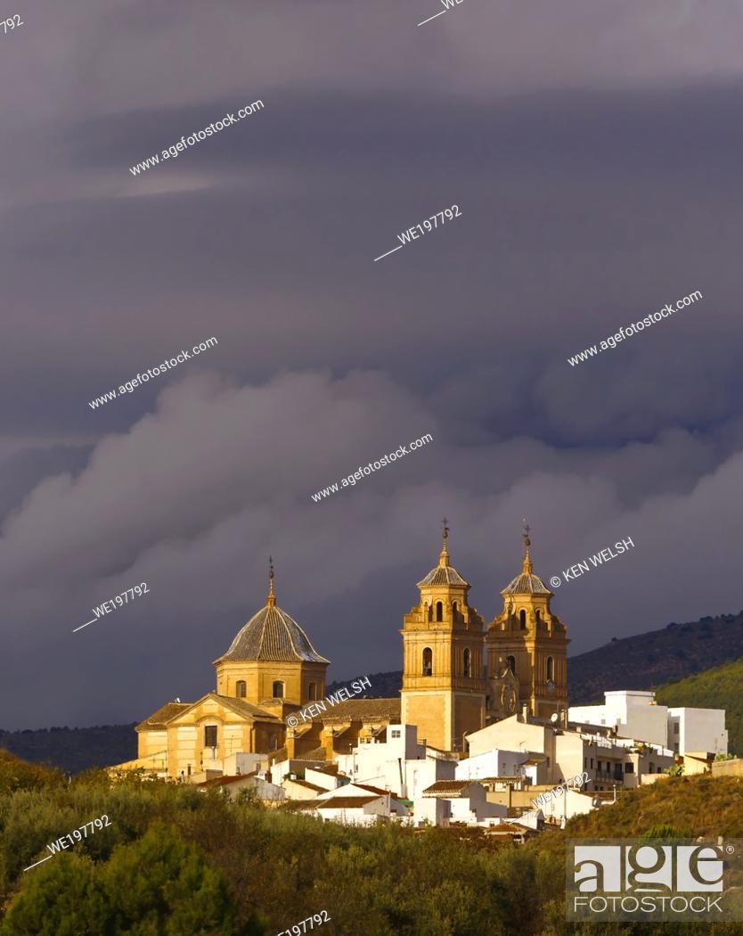 Stock Photo: Velez-Rubio, Almeria Province, Andalusia, southern Spain. Church of Nuestra Señora de la Encarnación.