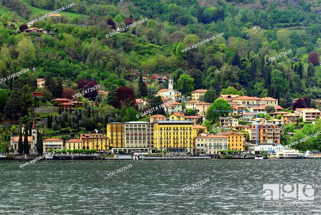 Imagen: Griante, Province Como, Lombardy, western shore of Lake Como between Menaggio and Tremezzo.