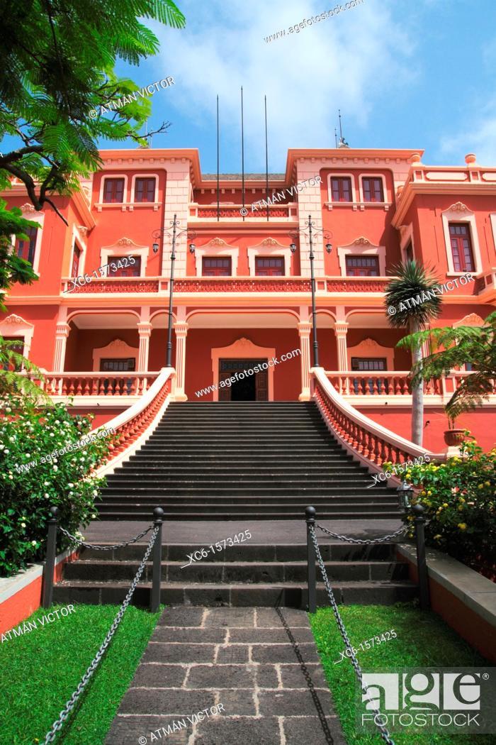 Stock Photo: Liceo de Taoro society, La Orotava, Tenerife, Canary Islands, Spain.