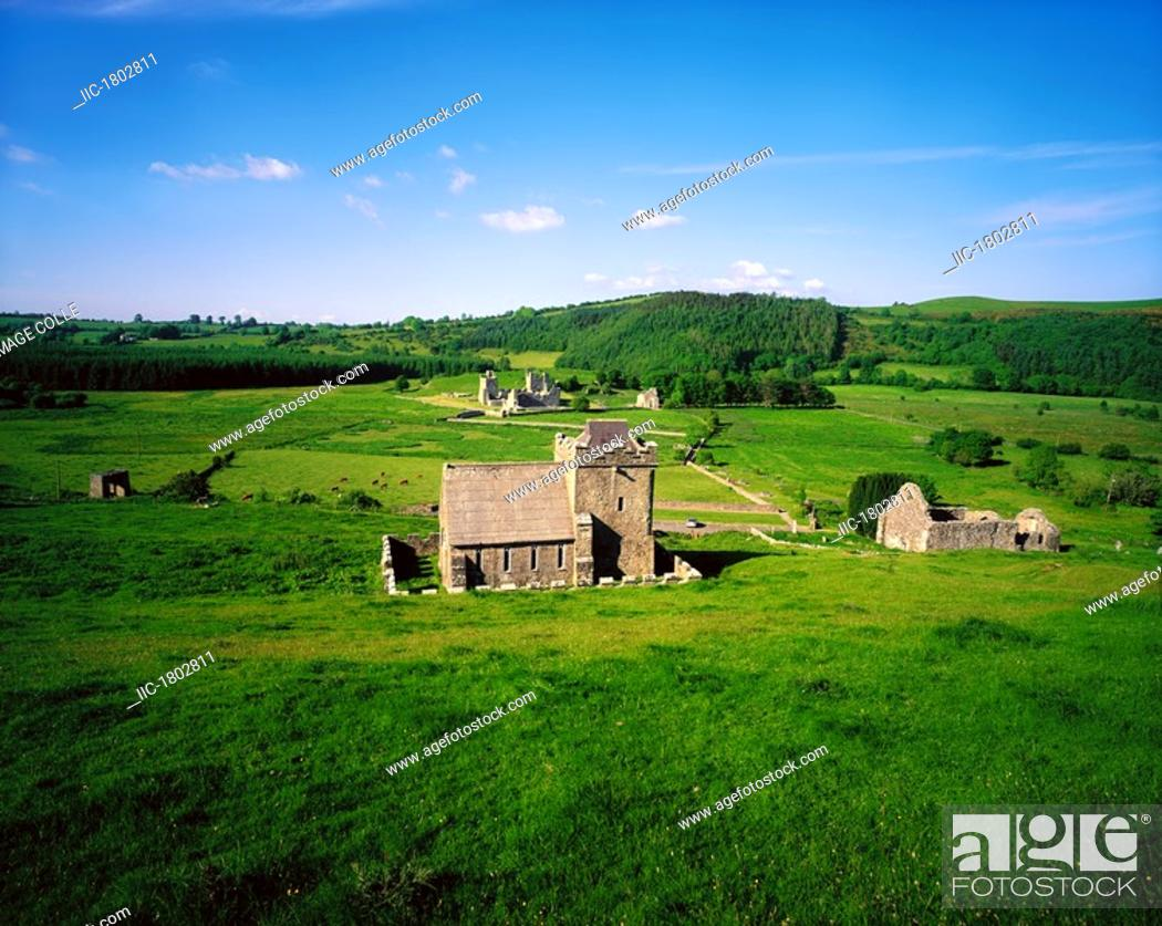 Stock Photo: Co Westmeath, Fore Abbey,.