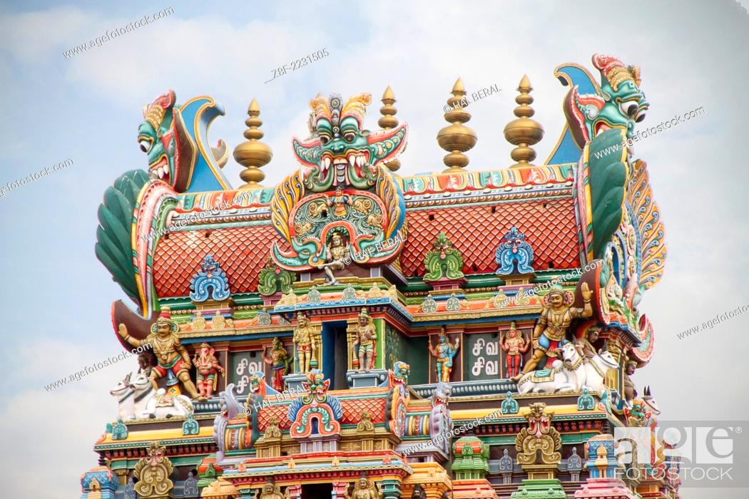 Guardian Deities in the form of fierce monsters decorate the