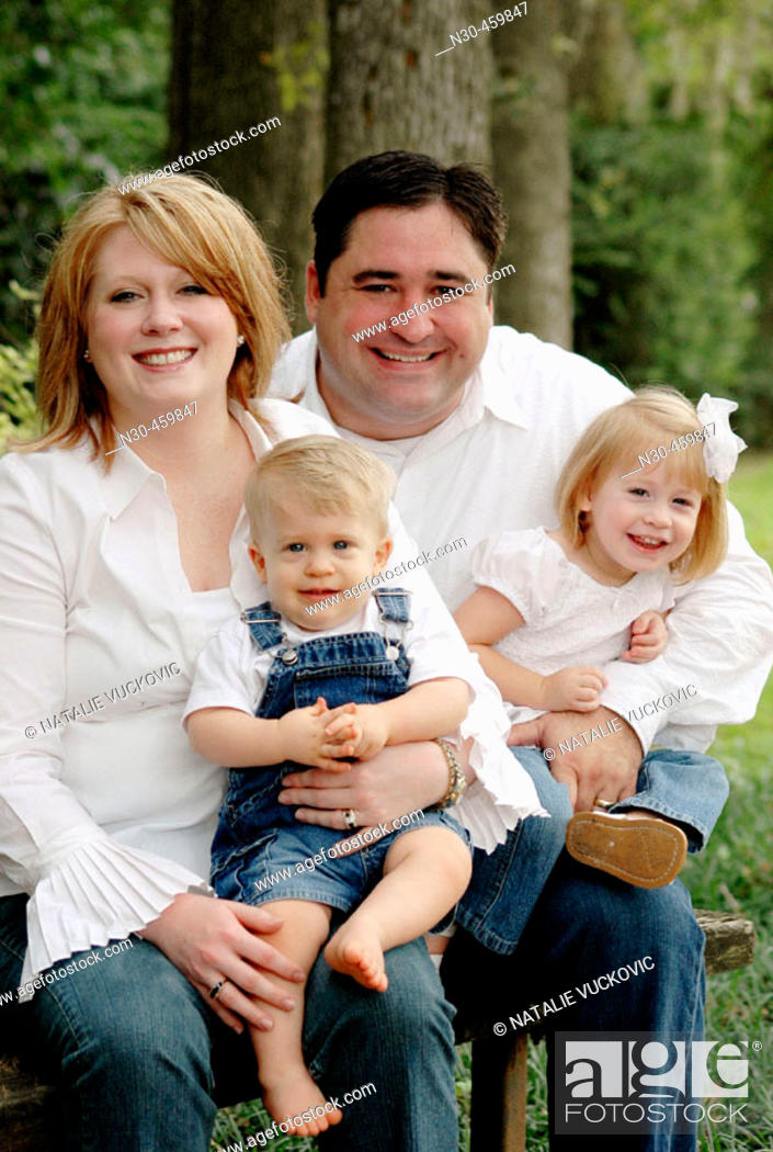Stock Photo: Family of Four Portrait.