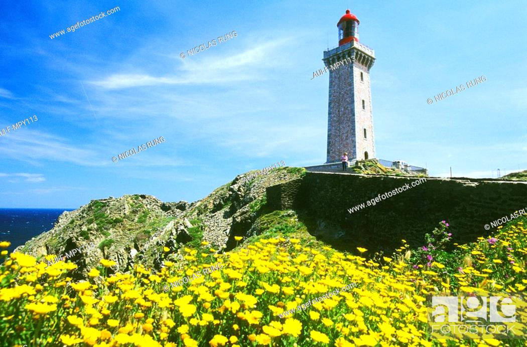 Stock Photo: France - Pyrenees Orientales - Cap Bear.