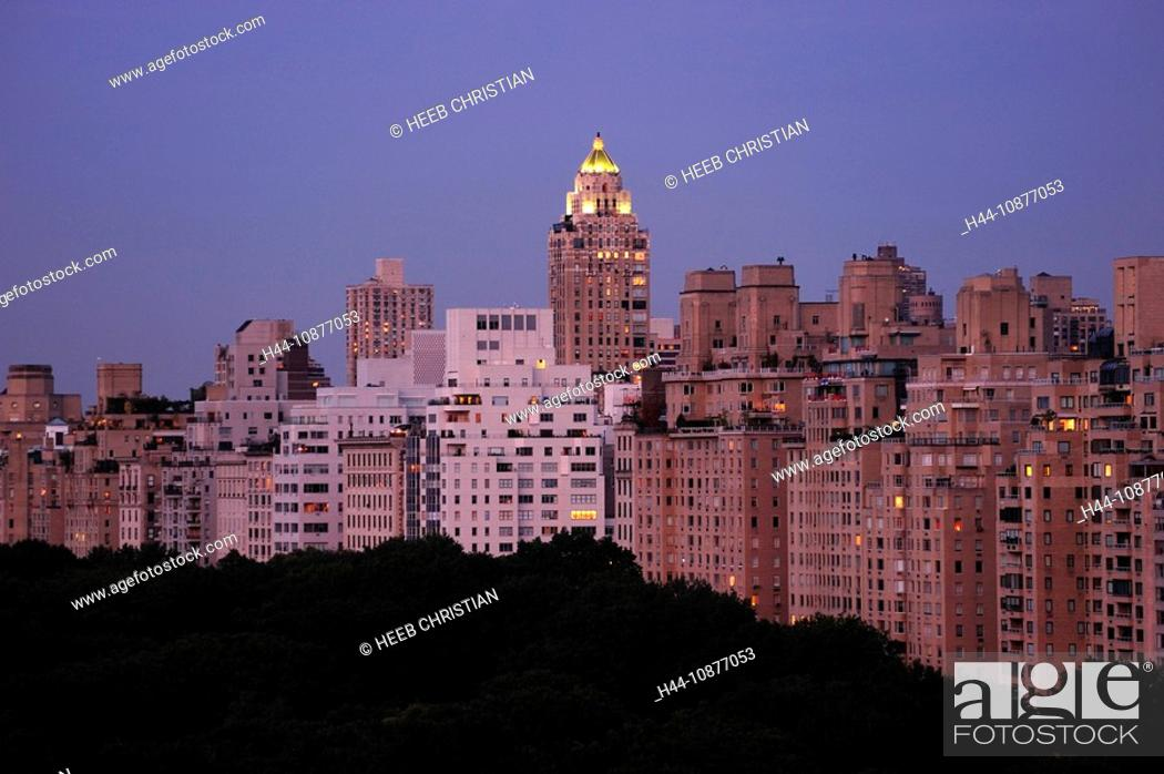 view over Central Park east at night from The Ritz-Carlton