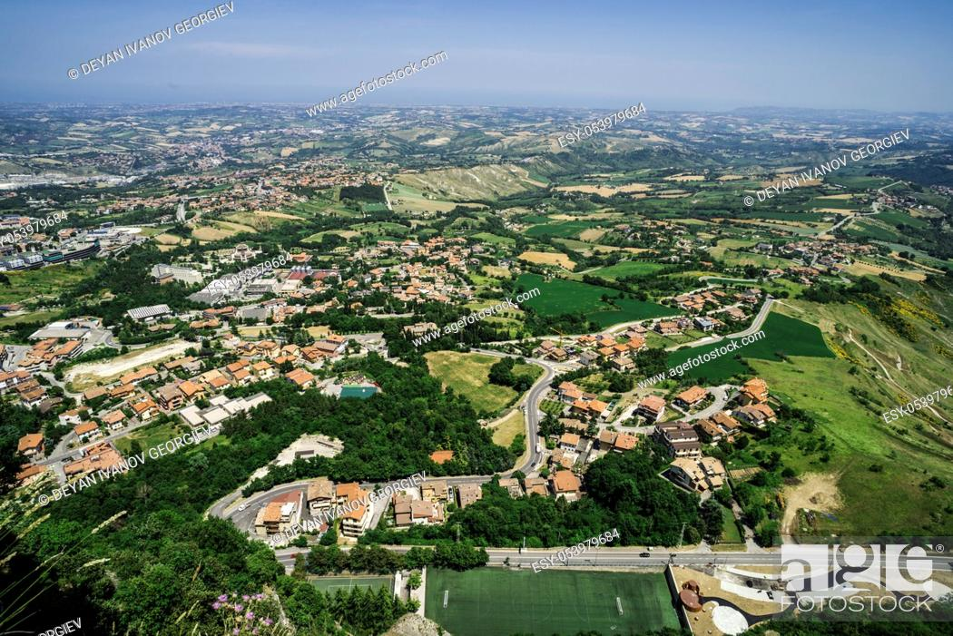 Stock Photo: High view from San Marino. Summer time.