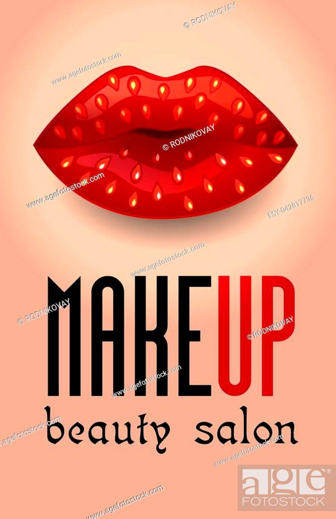 Banner For A Beauty Salon In The Form Of A Makeup Colorful Womens Lips For A Holiday Carnival Stock Vector Vector And Low Budget Royalty Free Image Pic Esy 042817736 Agefotostock
