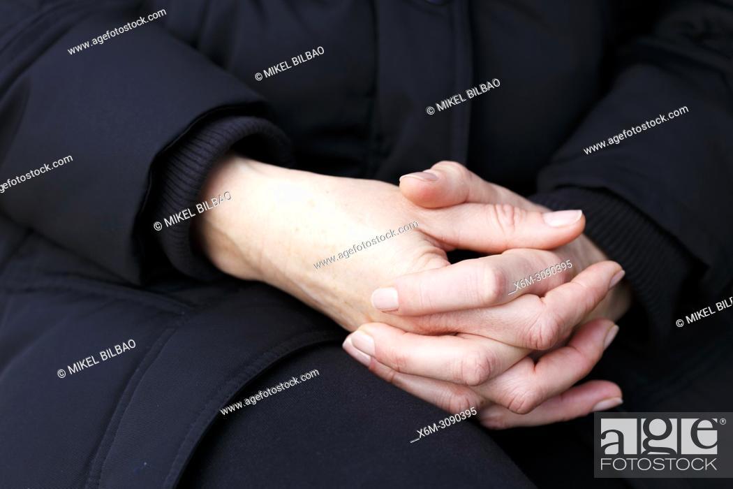 Stock Photo: Woman hands.