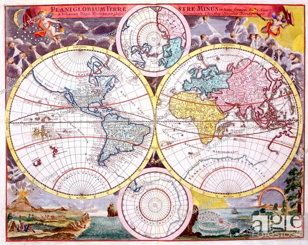 18th Century Map Of The World Stock Photo Picture And Rights