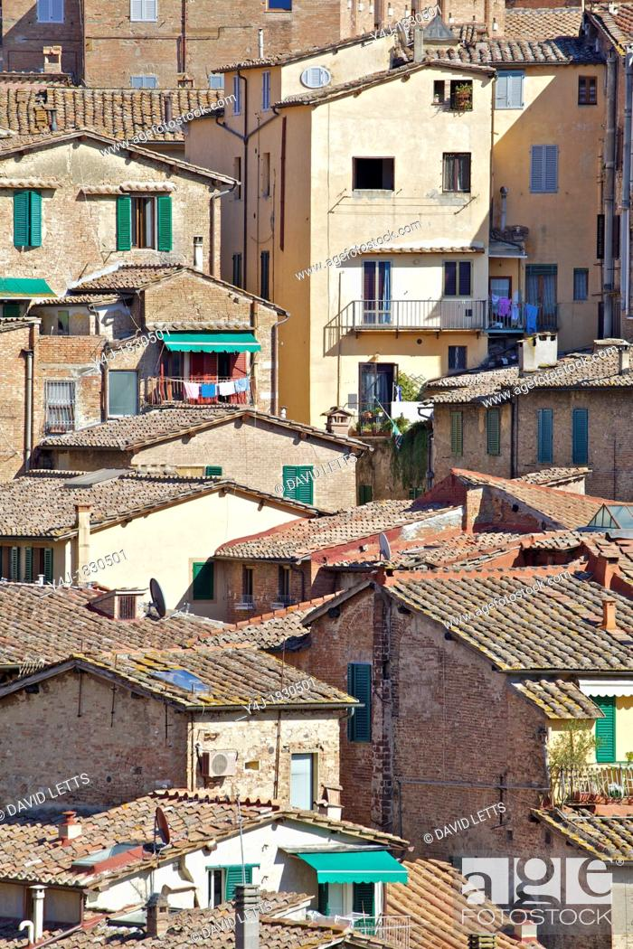 Stock Photo: Typical Homes in the Hill Town Cortona.